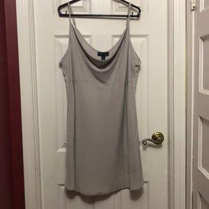 Lt Grey Drape Dress